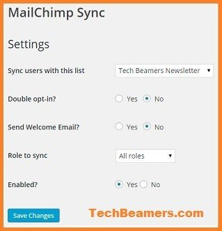 MailChimp plugin for user sync.