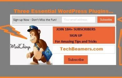 Three Essential MailChimp Plugin for WordPress.