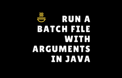 Java ProcessBuilder example to Launch a bat file