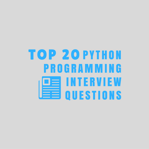 Python Programming Interview Questions with Answers