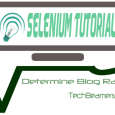 Selenium Tutorial - Blog Rank Finder App.