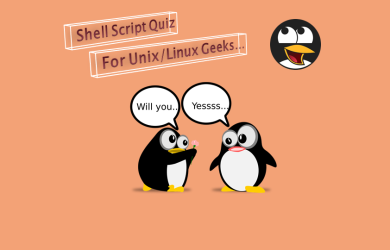 Shell script quiz for Unix Linux geeks.