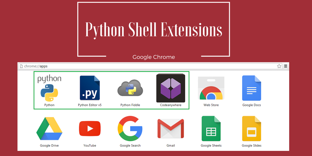 Chrome Python Shell Extensions for Quick Coding