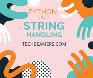 Python string handling questions
