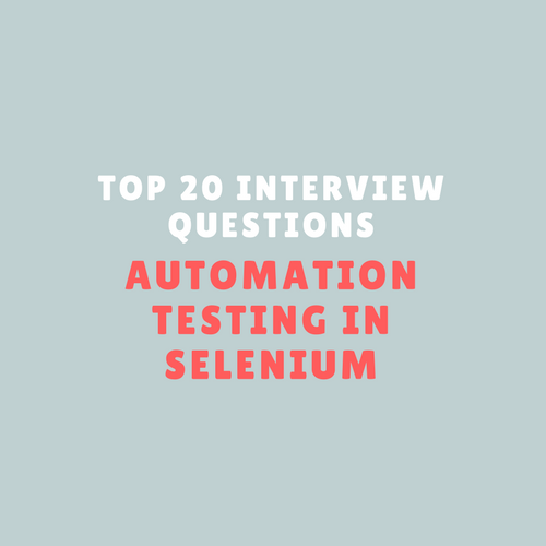 Selenium Webdriver Interview Questions for Test Engineers