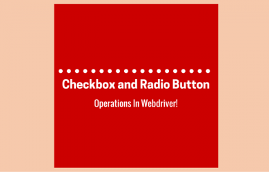 Checkbox and Radio Button Operations In Webdriver