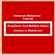 DropDown And Multiple Select Actions in Webdriver