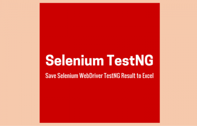 Save Selenium WebDriver TestNG Result to Excel