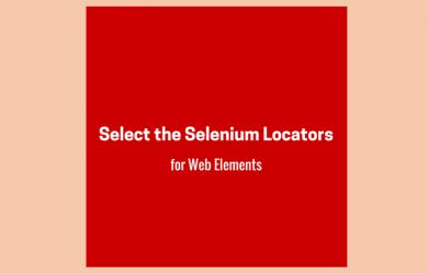 Select the Selenium locators for Web Elements