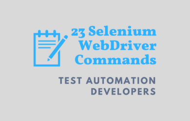 Selenium Webdriver Commands Essential for Test Automation