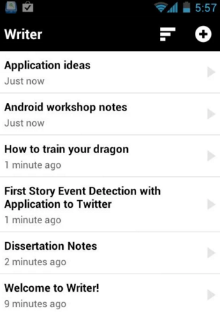 Writer Android Apps for Bloggers