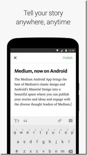 Medium Android Apps for Bloggers