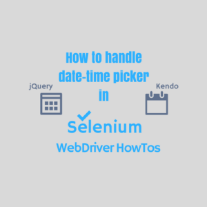 Handle date time picker calendar in selenium webdriver