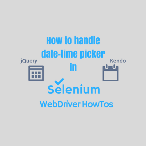 Handle Date Time Picker Control Using Selenium Webdriver