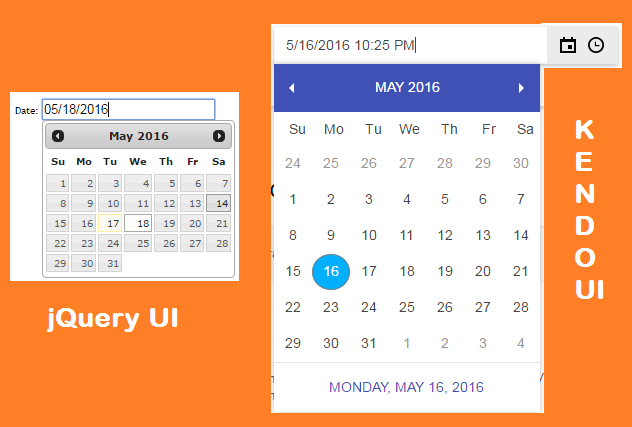 jQuery and Kendo - Handle date picker in Webdriver
