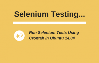 Run Selenium Tests Using Crontab in Ubuntu 14.04