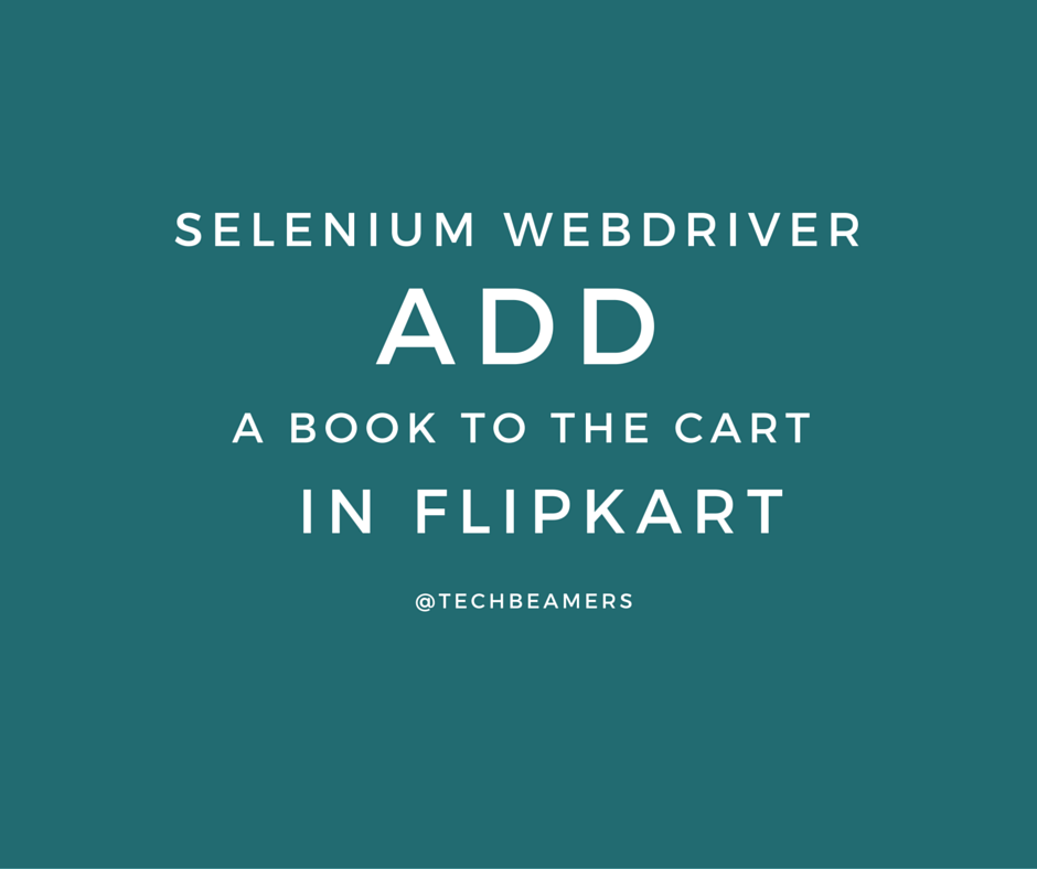 Selenium Exercise – Add a book to the cart in Flipkart