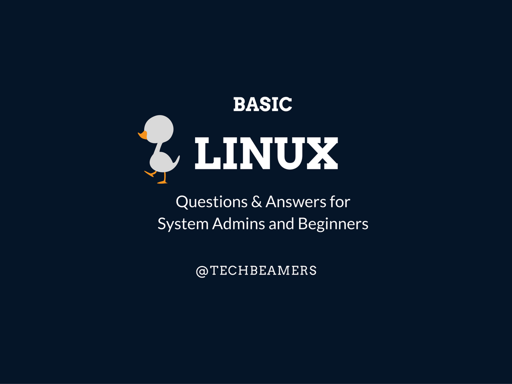 linux basic questions and answers online test for system admins