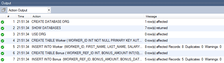 SQL Query Questions - Creating Sample Data