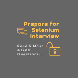 top five selenium questions for interview