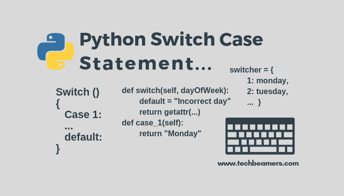Python Switch Case Statement Using Classes and Dictionary