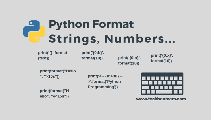 Learn to Format String, Int, Float, List and Dict in Python