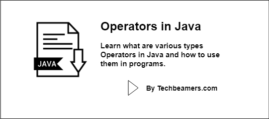Java Operators - Learn to Use them in Real Programs